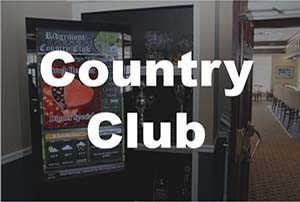 Digital Signage for Country Clubs