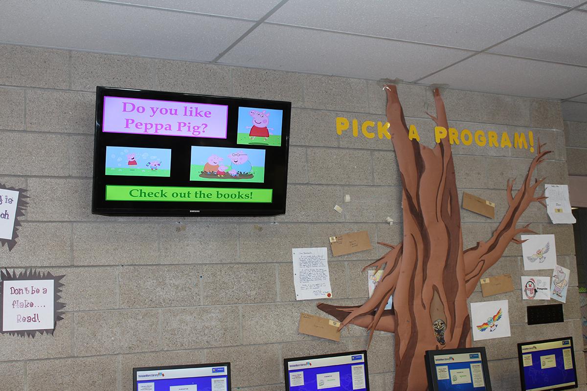library digital signage