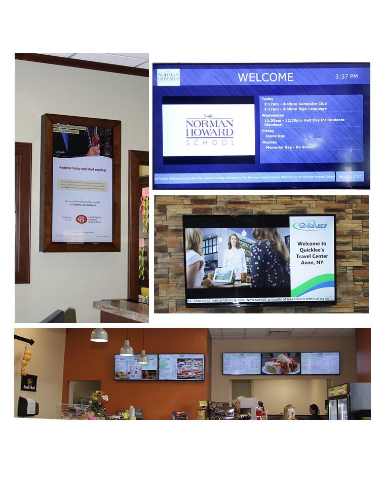 digital signage, digital signage examples, examples of digital signage