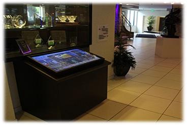 touchscreen kiosk, interactive kiosk
