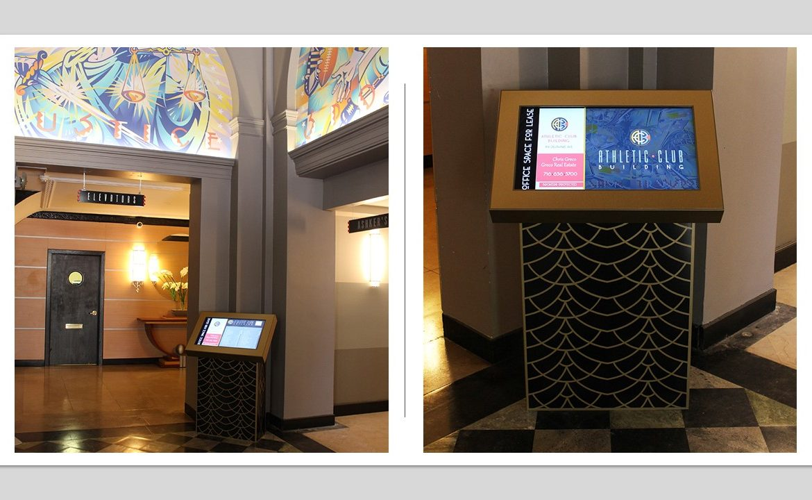 lobby directory, touchscreen directory, residential signage, touchscreen lobby directory