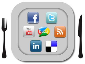 Restaurant Digital Signage Social Media