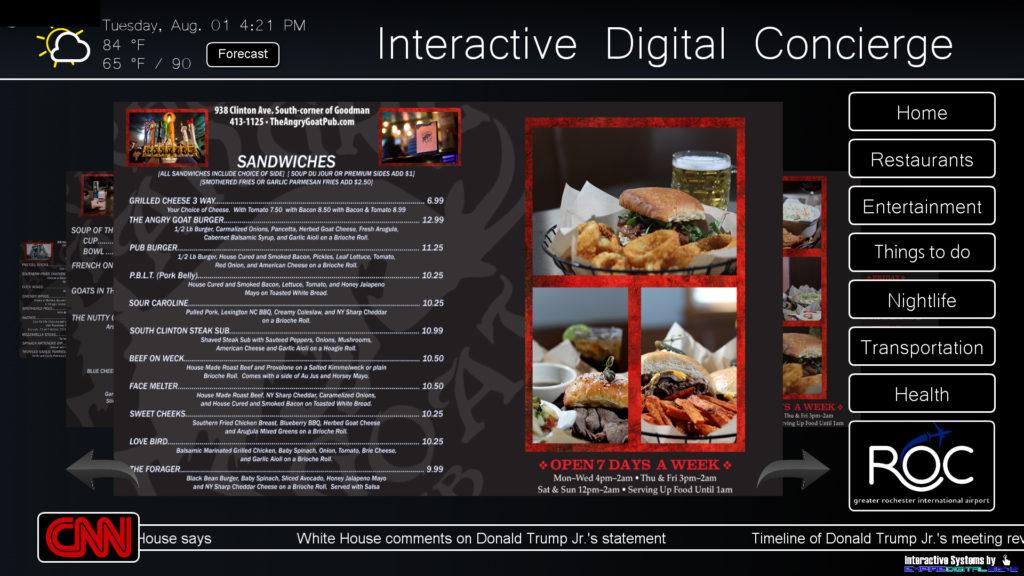 Digital concierge, concierge system, digital signage content, content creation, concierge advertising, digital advertising, local advertising