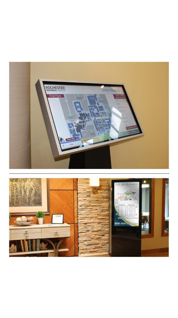 Digital wayfinding, Interactive wayfinding, wayfinder, touchscreen wayfinder, digital mapping