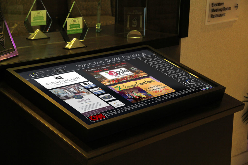 custom framing, digital signage, touchscreen frame, digital signage framing, custom frame, interactive touchscreen frame