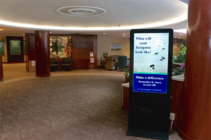 Senior living interactive kiosk