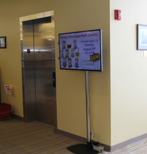 Library Digital Signage, static library digital signage, Cleveland digital signage