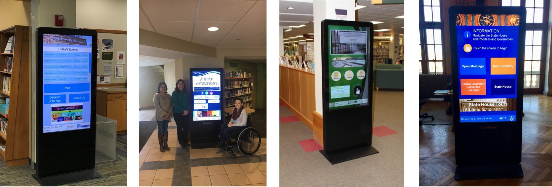rhode island digital signage, ohio digital signage, rhode island library kiosk, ohio library kiosk, cleveland library kiosk, providence library kiosk, new york digital signage, new york library kiosk, rochester library kiosk, syracuse library kiosk