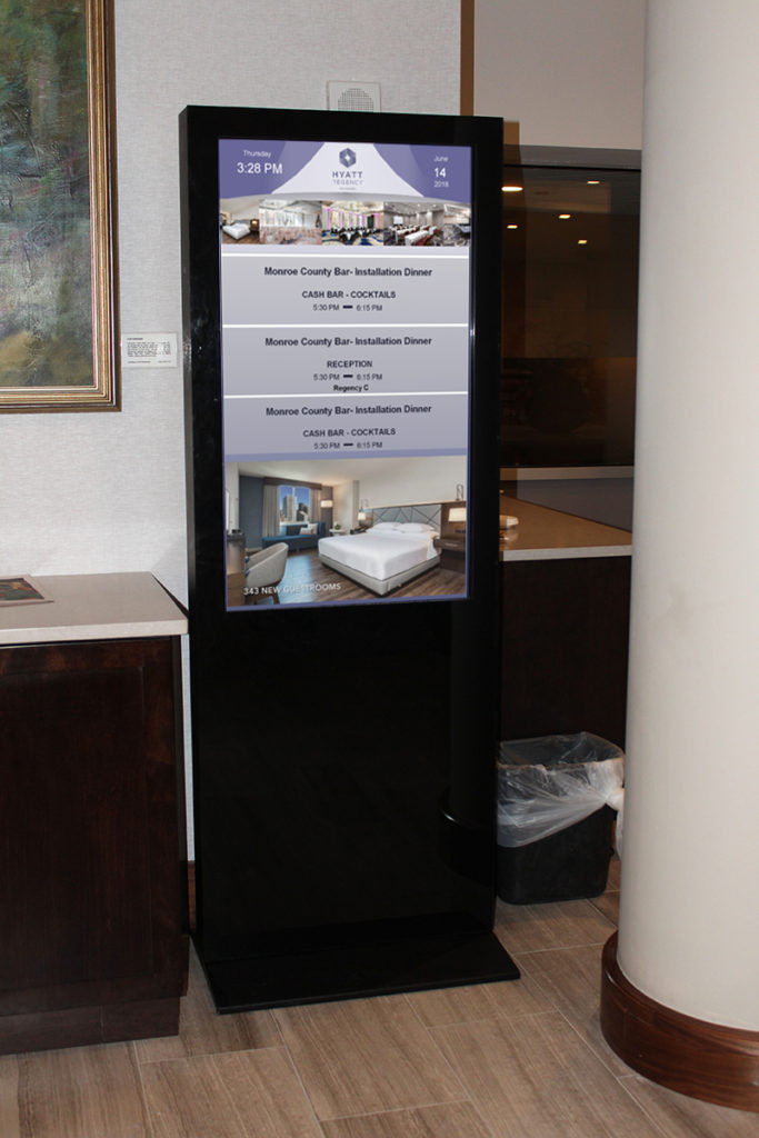 hotel reader board, hotel event board, reader board, digital event board, digital reader board, digital event screen, hotel event screen