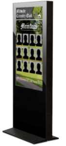 Country Club Digital Signage, member board, country club member board, touchscreen
