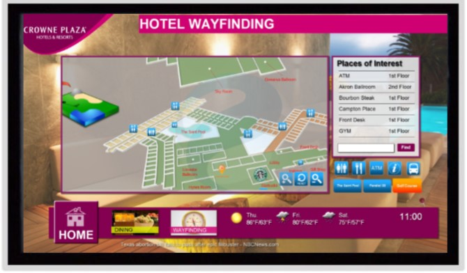 Interactive Wayfinding for Hotels