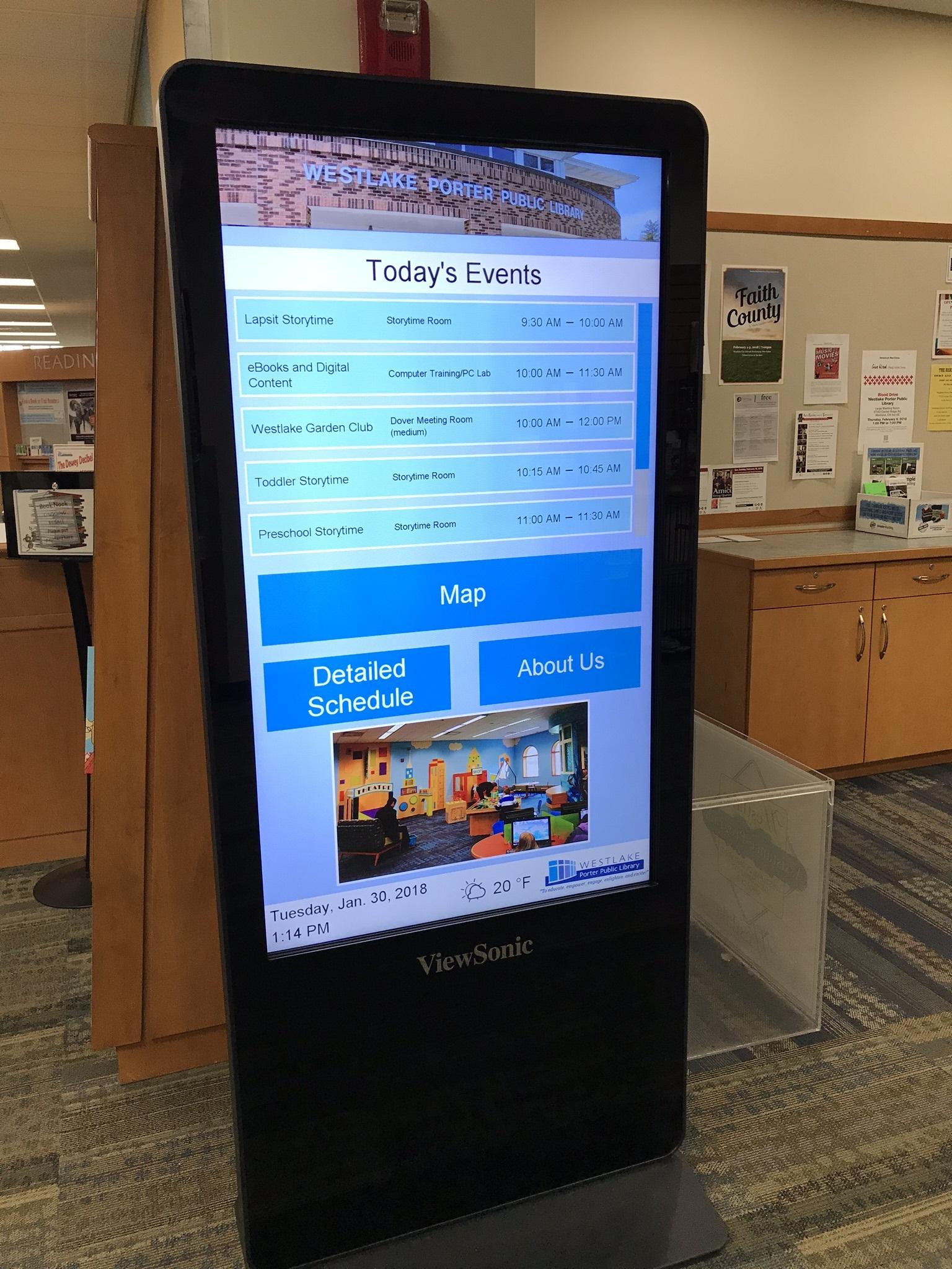 Interactive kiosk, Ohio digital signage, ohio kiosk, westlake OH, touchscreen kiosk