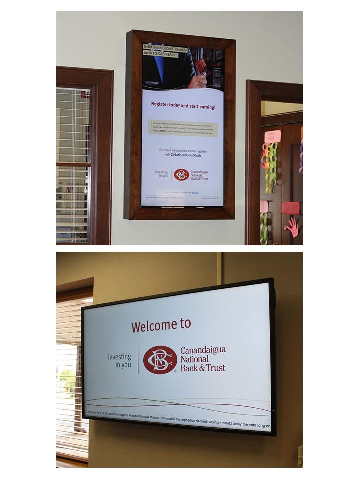 electronic poster, digital signage for banks, bank digital signage