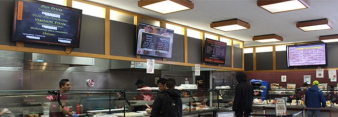 Digital Menu Boards for College Campuses