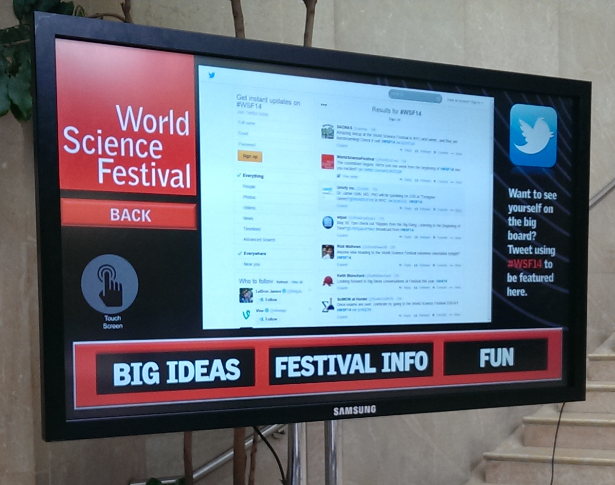 World Science Festival Twitter Wall