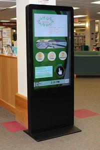 interactive library digital signage