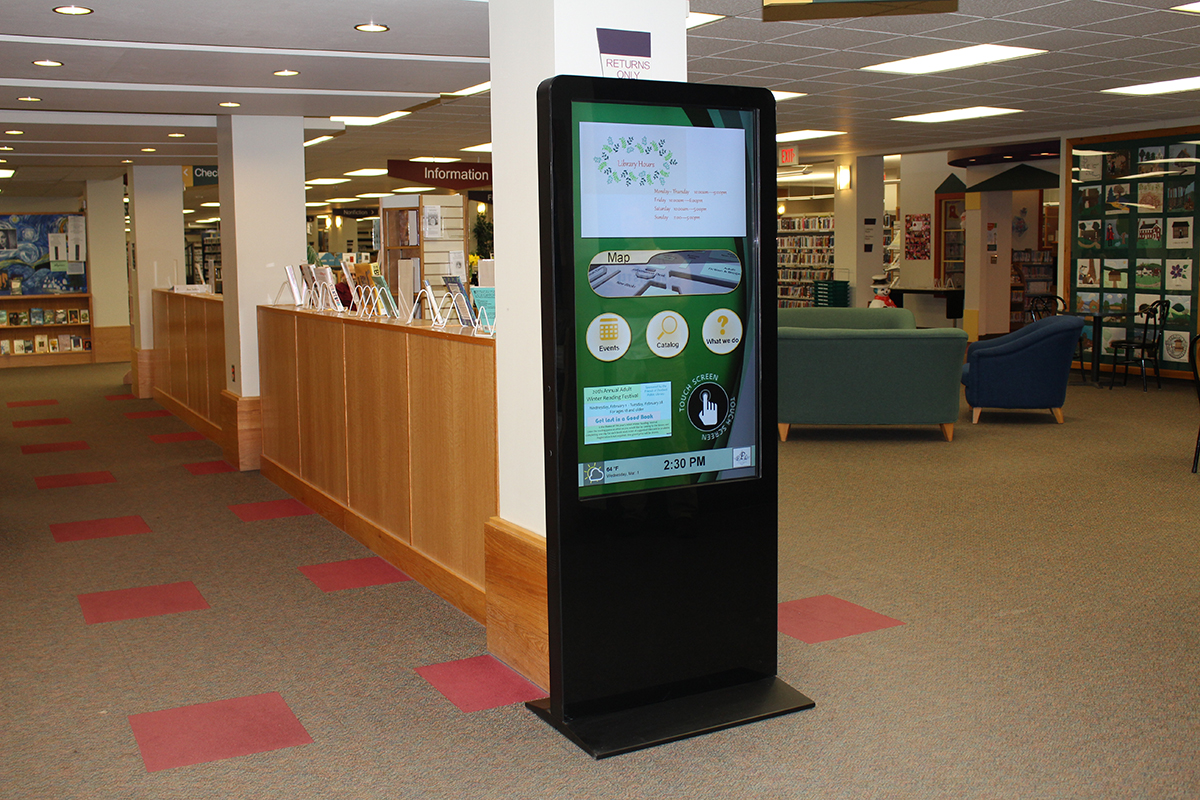 interactive library digital signage
