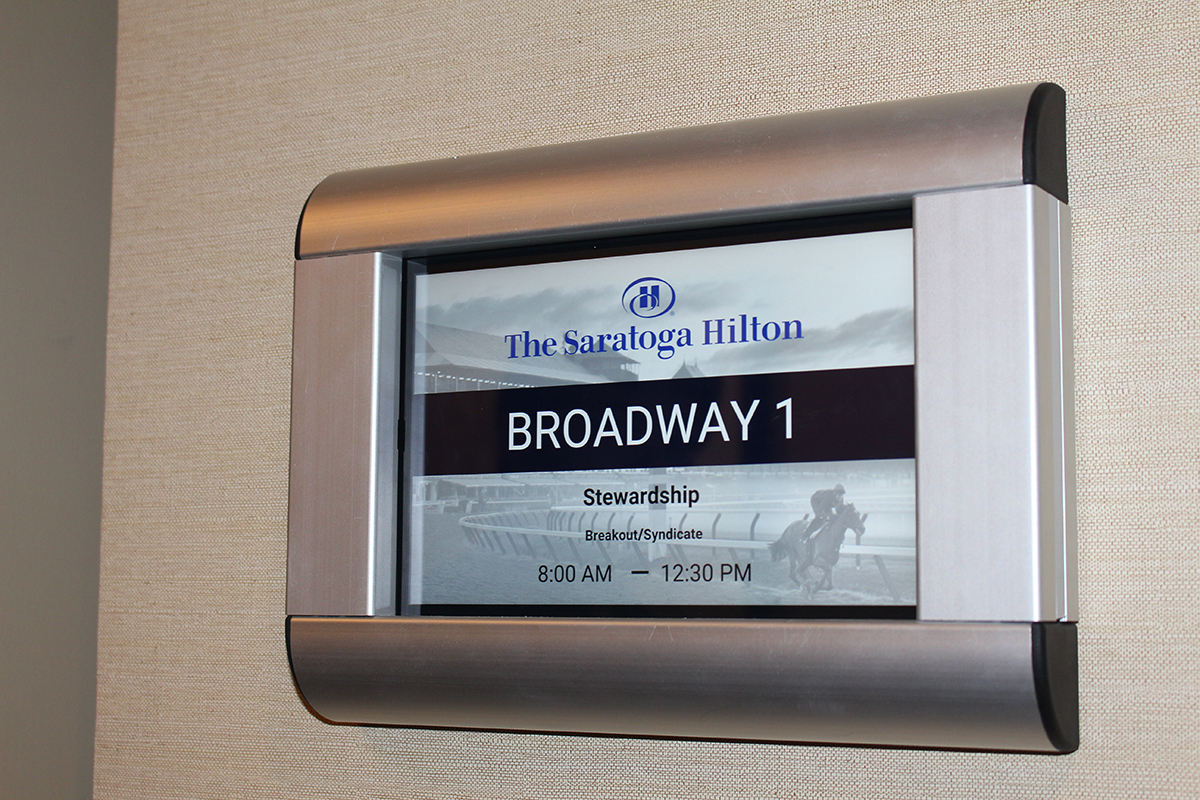 digital room signs conference room signage