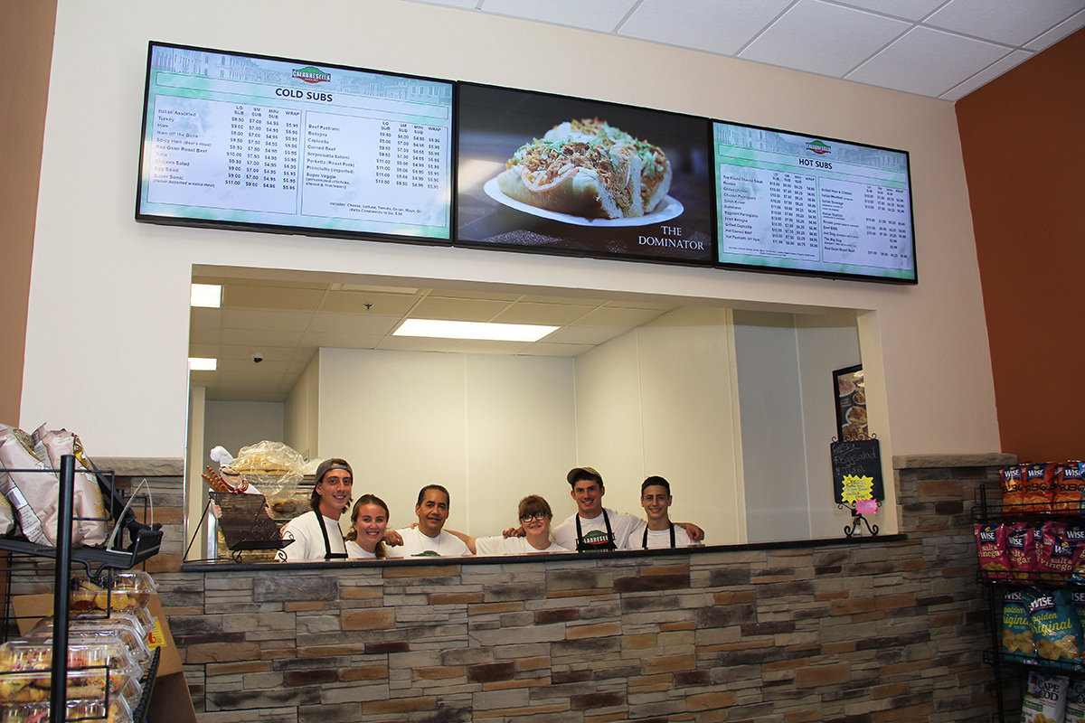 Quicklees Travel Center - Calabresella's Triple Digital Menu Boards
