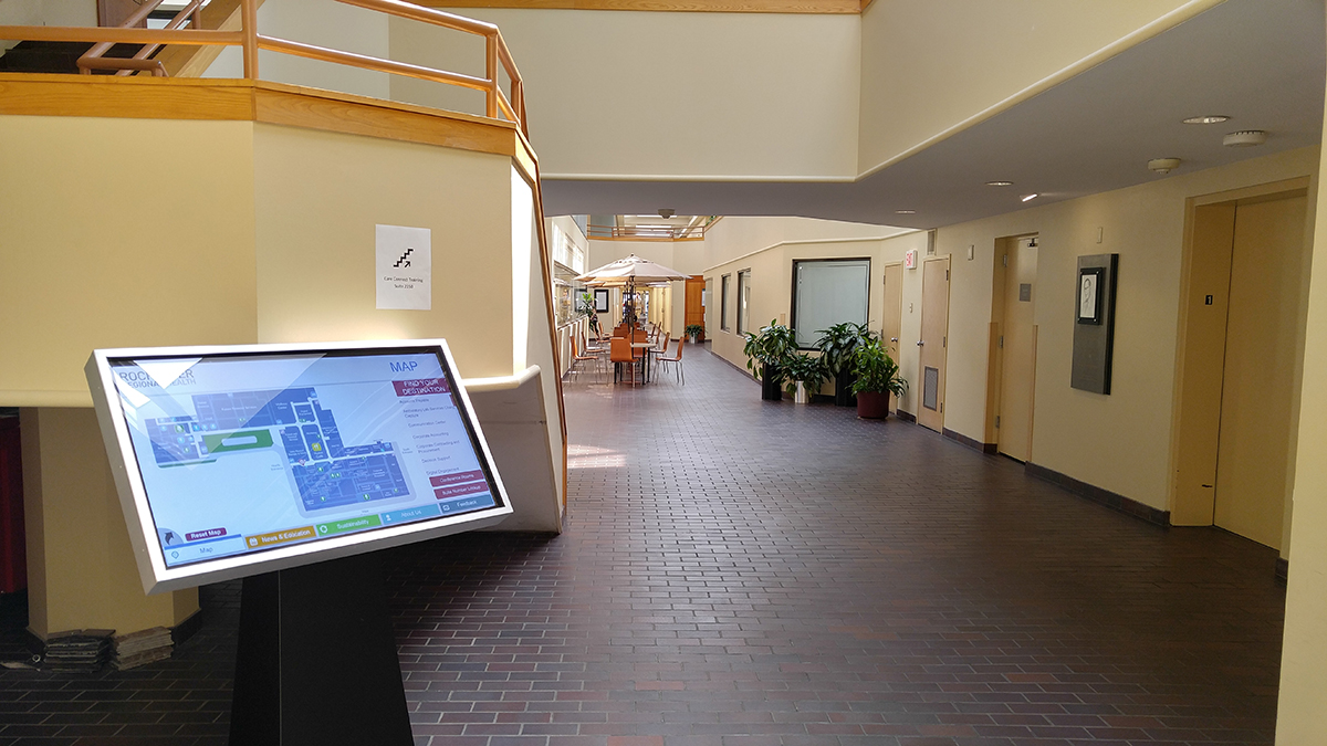 Hospital wayfinding, hospital mapping system, hospital interactive map system, hospital digital system