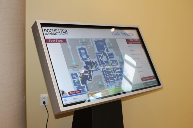 hospital wayfinding, hospital digital mapping system, hospital interactive digital system