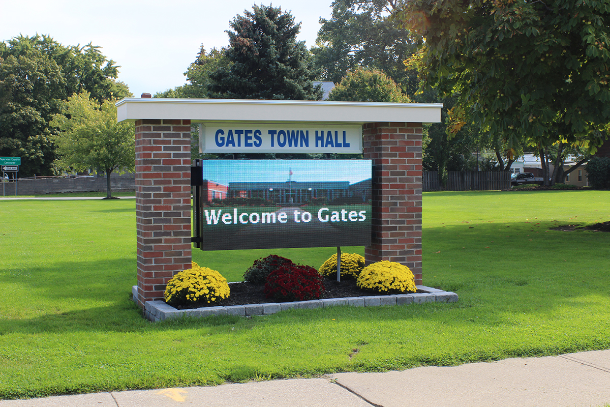 Gates Town Hall LED Display
