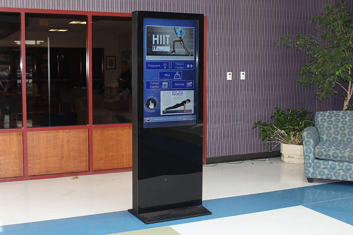 Webster Parks and Rec wayfinder kiosk