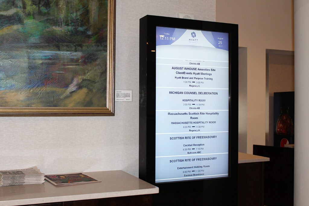 Hyatt Regency Rochester - Digital Reader Board