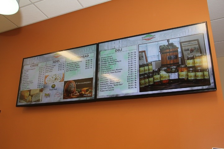 Digital Menu Board, restaurant digital signage