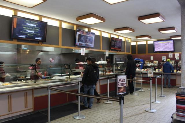 restaurant digital signage college campus digital signage