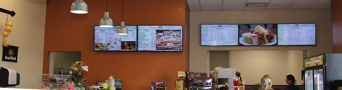 Restaurant digital signage, digital menu boards