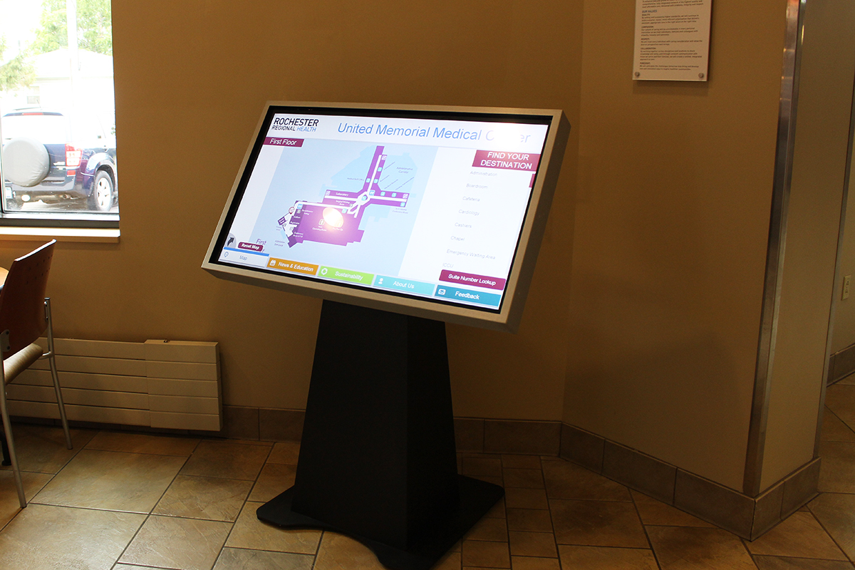 Rochester Regional Health - United Memorial Medical Center Wayfinding Kiosk