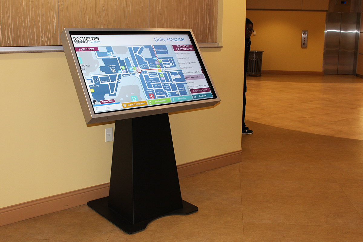 Rochester Regional Health - Unity Hospital Wayfinding Kiosk