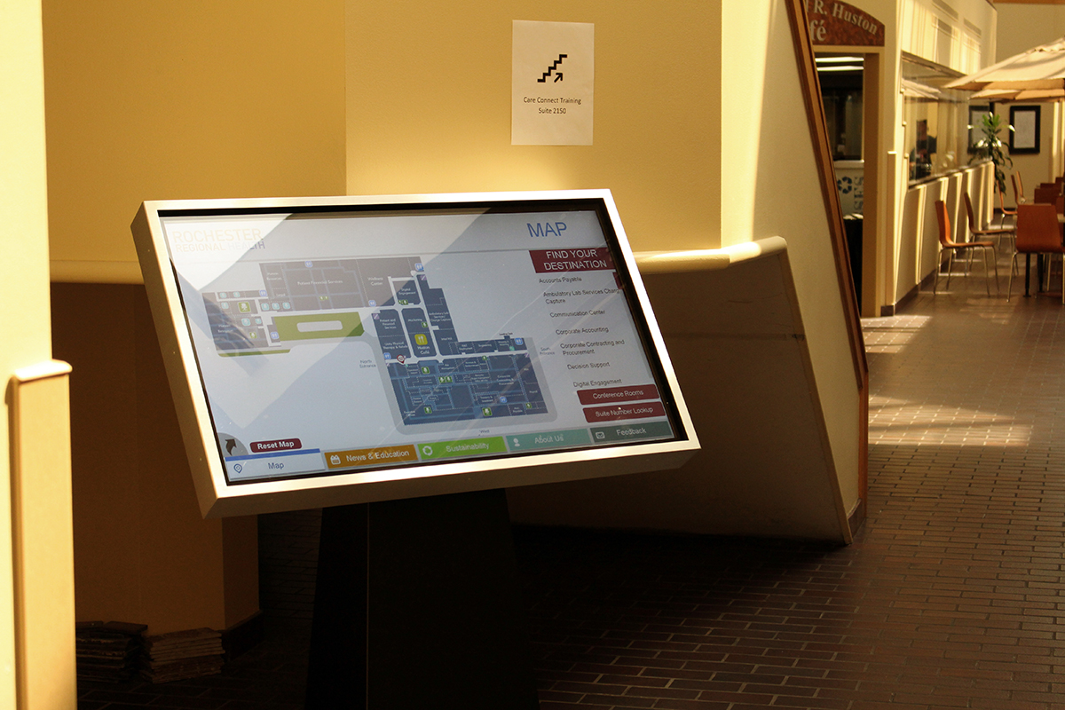 wayfinder, kiosk, touchscreen, healthcare digital signage