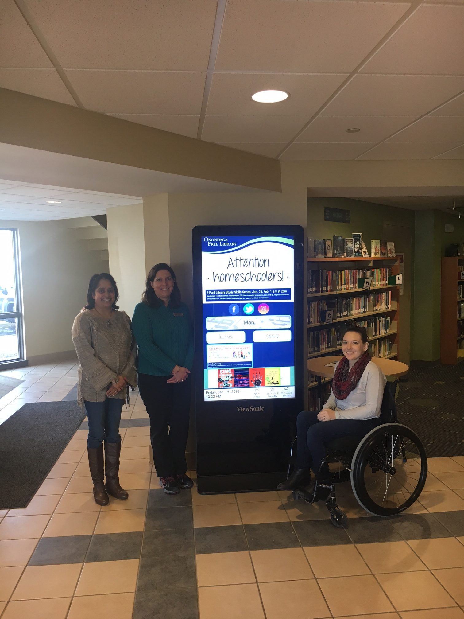 Onondaga Library Syracuse Interactive Kiosk