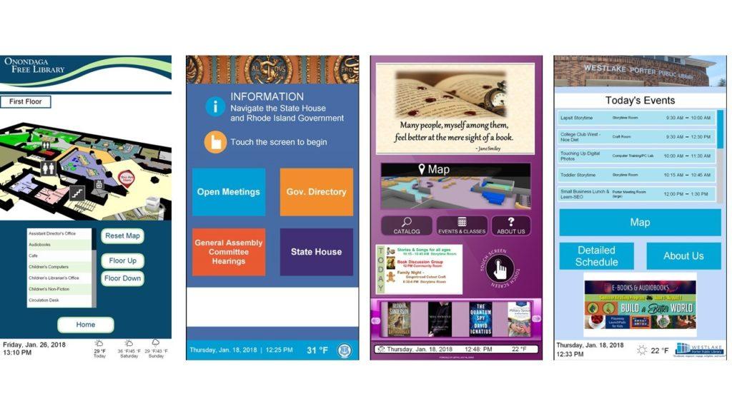 Library digital signage, library kiosk, library kiosk design