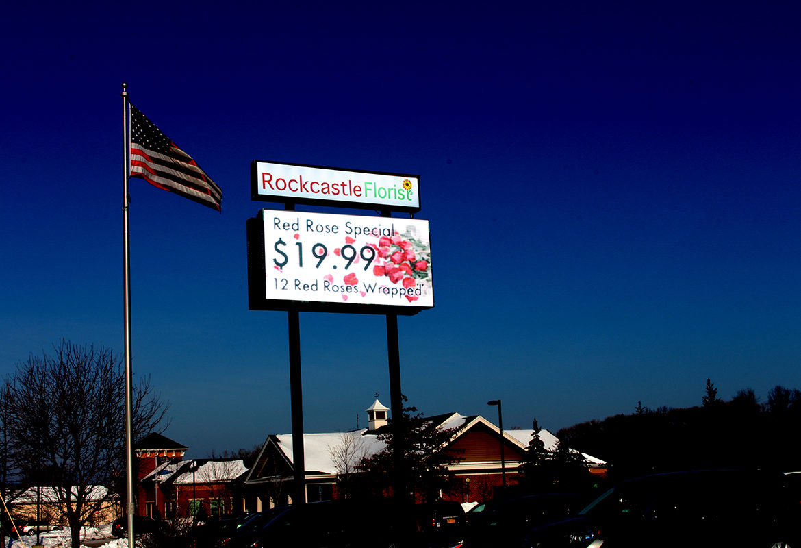 Outdoor LED, outdoor digital signage, new york digital signage