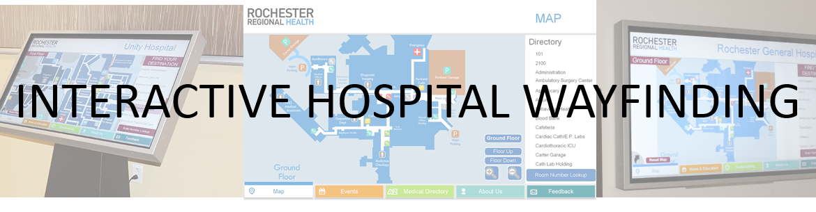 Hospital Wayfinding, Interactive Hospital Wayfinding
