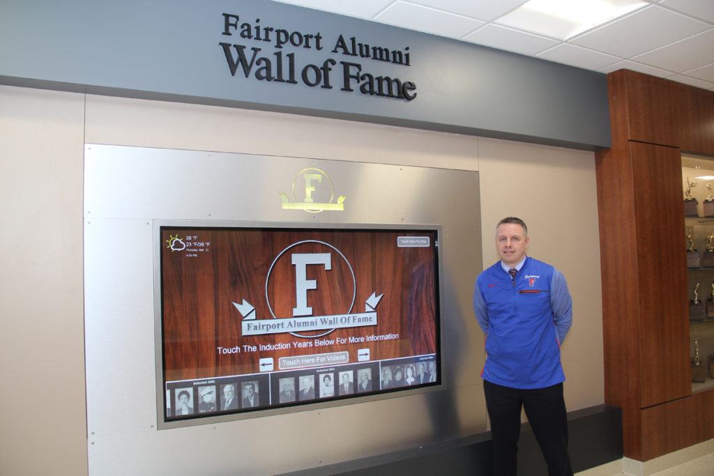 High school digital signage, wall of fame, highchool wall of fame, touchscreen wall of fame, highschool touchscreen, school wall of fame, school wall of fame touchscreen, school touchscreen