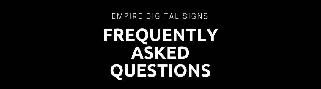 digital signage questions, digital signage faqs, frequently asked questions about digital signage, do i need digital signage, what is digital signage, digital signage, how to use digital signage