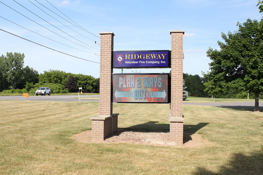 Ridgeway Fire Department LED Sign