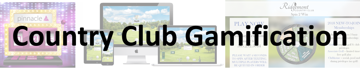 country club digital signage, digital gaming, country club gaming, interactive games