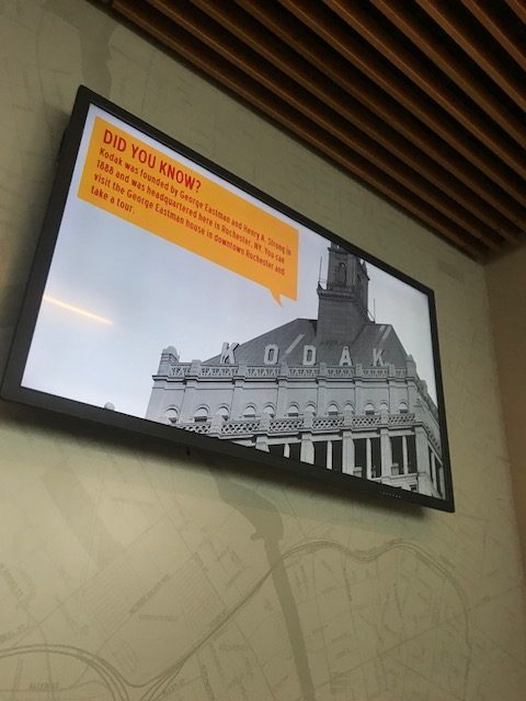 taste of rochester digital signage, airport digital signage, large screen, large digital signage display