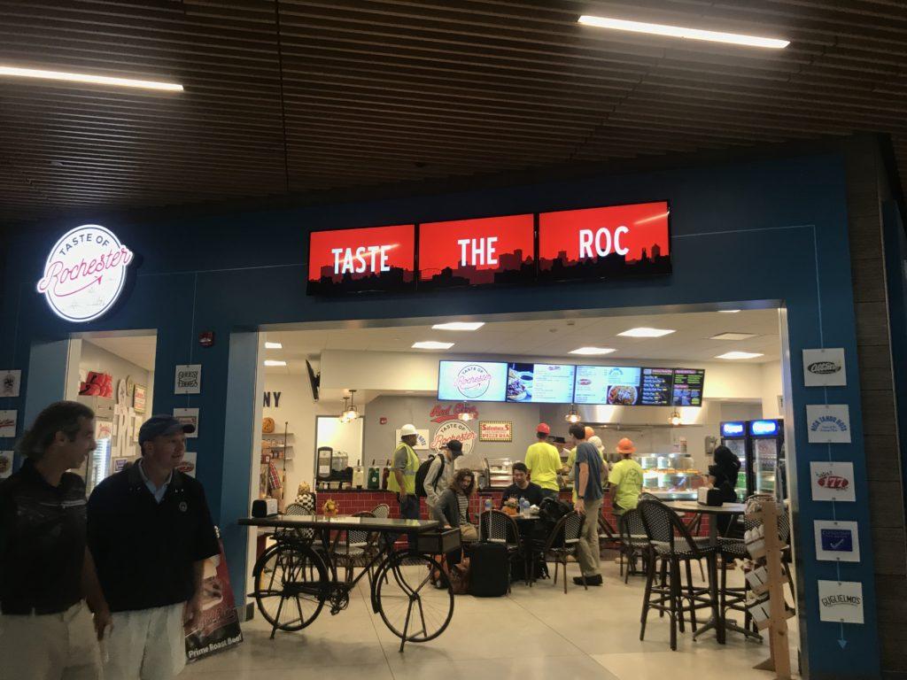 rochester digital signage, airport digital signage, digital menu boards