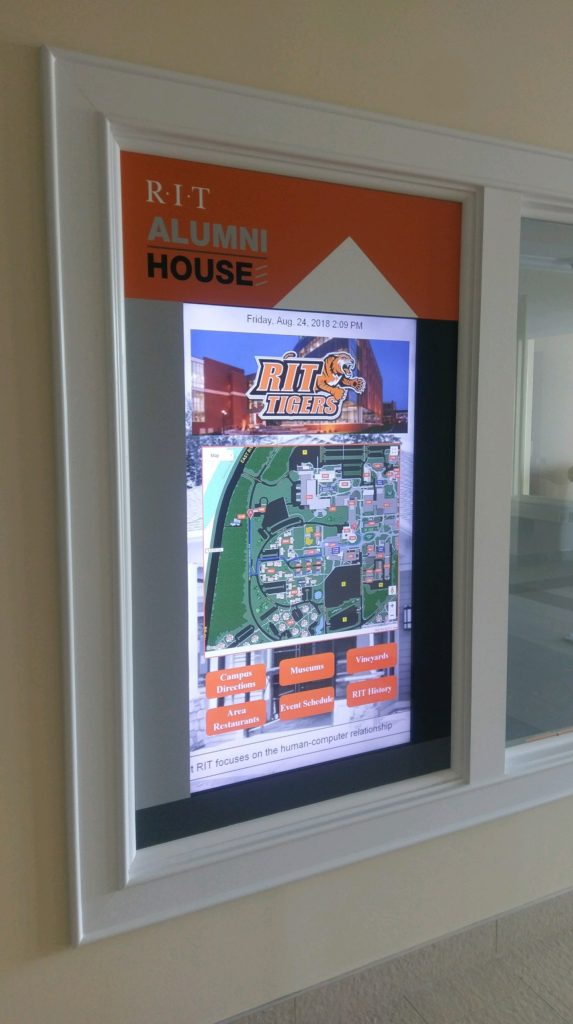 touchscreen digital signage, window to touchscreen