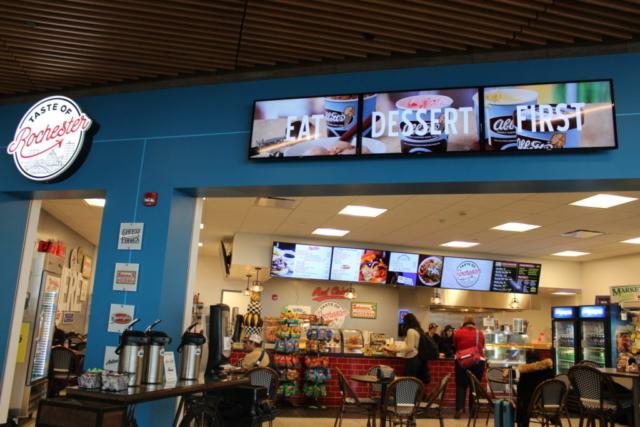 taste of rochester, menu boards, digital menu boards, taste of rochester digital menu boards, rochester international airport, rochester airport,