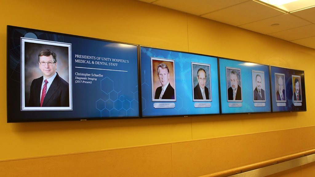 Unity Hospital Presidents Wall (Rochester Regional Health)