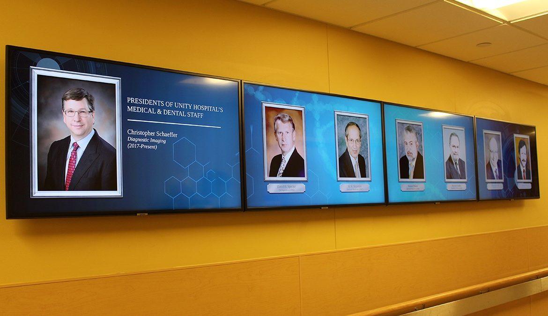 hospital digital signage, hospital recognition board
