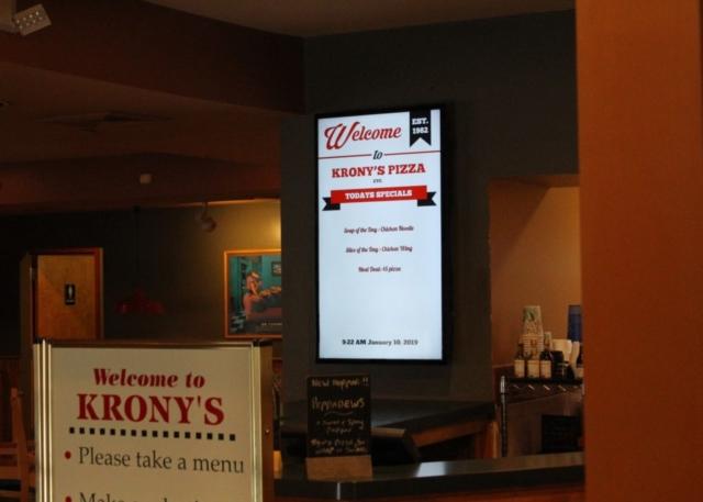krony's digital menu, digital menu display, digital menu boards, menu board
