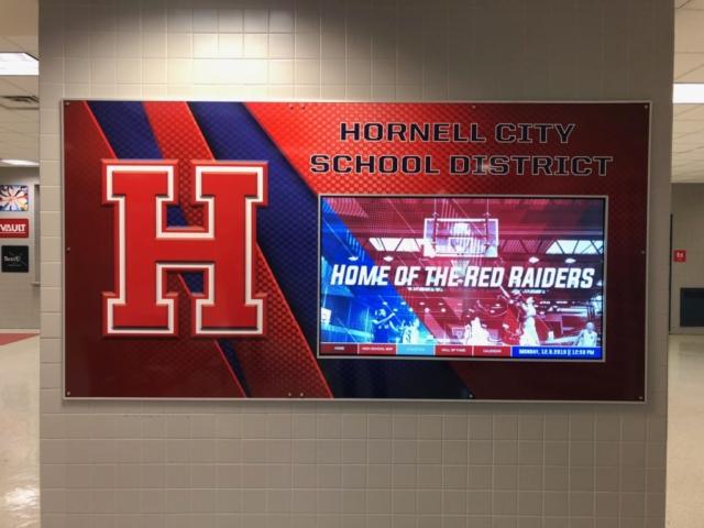 hornell high school digital school system, digital education system, digital interactive education system, digital interactive system, digital wayfinding, digital mapping